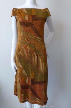 Barbara Wilson Australia Size 10 US 6 Metallic Stretch Dress | eBay