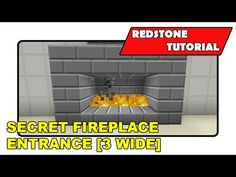 "Secret Fireplace Entrance [3 wide] ""Redstone Tutorial"" (Minecraft Xbox/PlayStation/PS Vita) - YouTube"