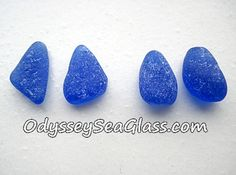 Only $10.95 ~ ANCHOR Sea Glass Earring Pairs Cobalt Blue ~ Genuine Beach Glass PS1953 by OdysseySeaGlass on Etsy