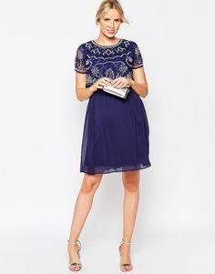Image 4 ofASOS Maternity NURSING Midi Dress With Embellishment