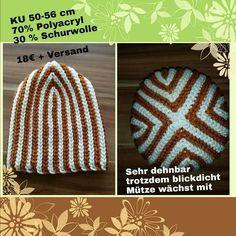 Bosnisch gehäkelte Mütze Beanie crochet bosnian hat