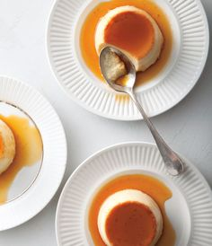 Chef Jose Andres Doesn't Mind a Gross Flan, He Just Won't Cook One: He cooks the custard longer at relatively low heat so the eggs gently coagulate, producing a silky mouth-feel. The flan separates--the bottom half is creamy, the top more jelled--a technical imperfection that happens to make for a delicious contrast. Which is why, like the flans of his youth, it's a mistake Andres celebrates.