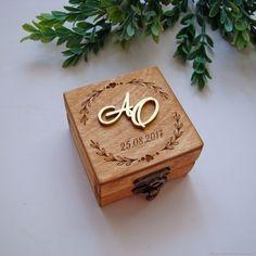 Шкатулка для колец на свадьбу с объемными инициалами – купить в интернет-магазине на Ярмарке Мастеров с доставкой