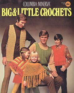 Items similar to PDF Vintage Crochet Pattern Tank Top Poncho Vest Waist Coat 'Bad-Taste' Men Boys & Girls Mod Groovy Hippy Hipster Columbia Minerva on Etsy Crochet Poncho Patterns, Crochet Motifs, Pdf Patterns, Vintage Patterns, Big Little, Vintage Knitting, Vintage Crochet, Unique Crochet, Columbia