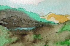Lochs & Glens, watercolour on paper.