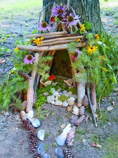 Pictures, Category projects projects during lockdown projects for kids projects for schools projects for toddlers projects uk projects using sticks and twigs projects with bricks projects with pallets Fairy Houses Kids, Fairy Garden Houses, Garden Art, Garden Design, How To Make A Fairy House Kids, Fairy Gardens, Nature Activities, Outdoor Learning, Fairy Doors