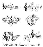 Set Musical Notes Illustration in Vektor Lizenzfreie Bilder Music Note Logo, Music Notes Art, Music Letters, Art Music, Music Icon, Music Tattoo Designs, Music Tattoos, Body Art Tattoos, Star Tattoos