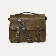 Eclair Postman Bag - Leather Satchel Bag Made in France   Bleu de chauffe