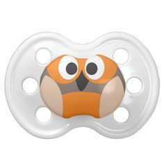 Funny staring owl baby pacifier