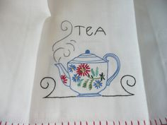 Love embroidered towels!