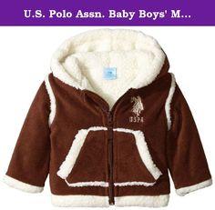 Polo Association Fleece Jacket 12-18 Months Gray//Black New Infant Boy/'s U.S