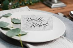 Printable Wedding Place Cards Marble Wedding Escort Place