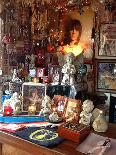 My friend, Sheilah's Gram Parson's shrine in her home! <3