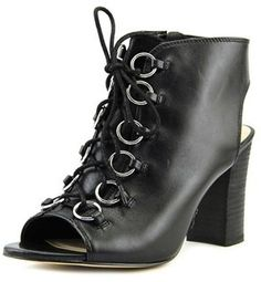 97cc736764d9 Nine West Bree Women Open-toe Leather Black Ankle Boot. Black Ankle Boots