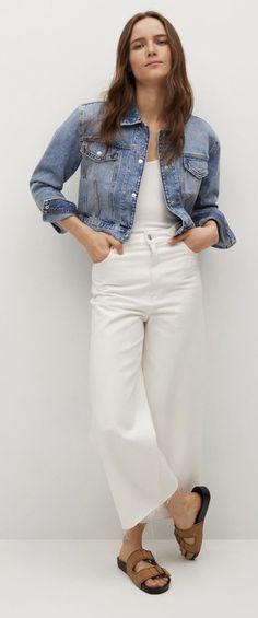 Mode Birkenstock, White Jeans, Pants, Tops, Women, Fashion, Trouser Pants, Moda, Fashion Styles