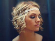 White Lace Boho Headband by AliceInBloom on Etsy, $6.00