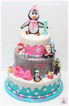 Winter Themed Birthday cake - by Sobi @ CakesDecor.com - cake decorating website