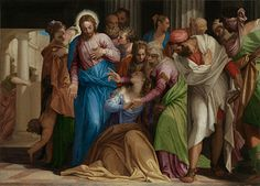 Paolo Veronese: 'Christ addressing a Kneeling Woman' (the conversion of Mary Magdelene - National Gallery