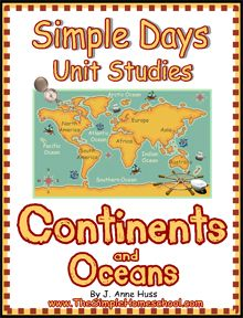 Free Continents and Oceans Unit Study (One Week Only) Also in this post, links to other continent and ocean freebies.