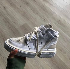 Nike x Val Kristofer, would you guys cop or drop? Sneakers Mode, Sneakers Fashion, High Top Sneakers, Fashion Shoes, Shoes Sneakers, Adidas Fashion, Hightop Shoes, Fashion Fashion, Runway Fashion