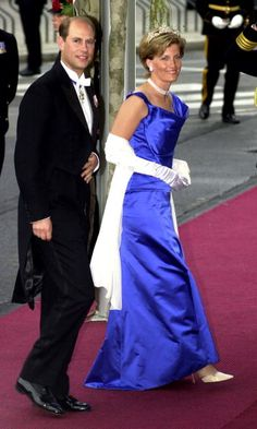 Britain''s Prince Edward and his wife Sophie Rhys Jones attend the wedding of Norwegian Crown Prince Haakon and MetteMarit Tjessem Hoiby August 25...