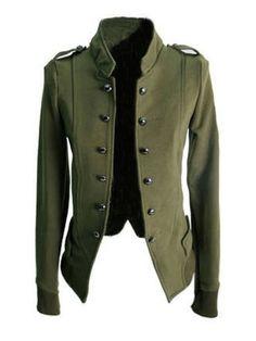 Chic Plain Comfortable Band Collar Jacket