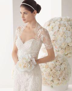 Suknia ślubna Rosa Clara 173 Moka Two 2014 Wedding Dresses 2014, Prom Party Dresses, Wedding Dress Styles, Designer Wedding Dresses, Wedding Gowns, Bridesmaid Dresses, Tulle Wedding, Dream Wedding, Wedding Jacket