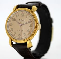 Currently at the #Catawiki auctions: Zodiac - Vintage Gold Plated Manual Swiss Made Wristwatch, c.1950's