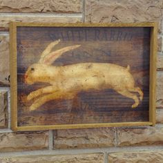 Country Decorative Sign – White Rabbit Inn Framed Sign