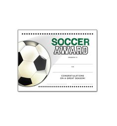 End of season soccer award ideas just b cause for Soccer certificate templates