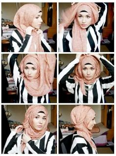 ♥ Muslimah fashion & hijab style How to do it Hijab Chic, Stylish Hijab, Hijab Wear, Hijab Dress, Hijab Outfit, Islamic Fashion, Muslim Fashion, Hijab Fashion, Muslim Girls