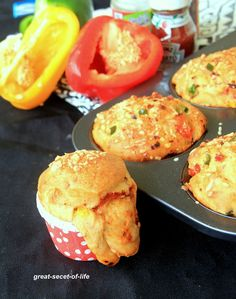 Vegetarian Pizza Muffins Recipe by Veena Theagarajan, Healthy Kids Friendly Pizza Muffins Recipes - Great Secret Of Life, Biryani Recipe, One Pot Meal Muffin Recipes, Brunch Recipes, Snack Recipes, Cooking Recipes, Kid Recipes, Pizza Recipes, Easy Cooking, Healthy Cooking, Recipies