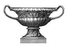 Vintage Clip Art - Classic Garden Urns - The Graphics Fairy