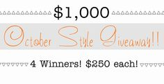 Come join the fun and enter to win part of a $1,000 from some super fun bloggers! http://thepleatedpoppy.com/2013/10/october-style-giveaway/ …