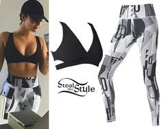 Demi Lovato posted a new instagram photo last week, wearing the Eden Bra ($39.95) and Lisette High-Waisted Leggings ($84.95) from her collection with Fabletics.