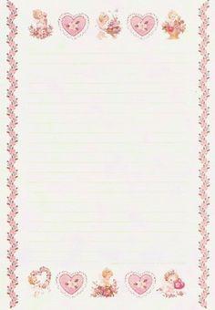 35 papéis de carta que farão meninas dos anos 80 e 90 voltarem à infância Printable Lined Paper, Free Printable Stationery, Lined Writing Paper, Writing Papers, Journal Template, Letter Set, Stationery Paper, Note Paper, Pen And Paper