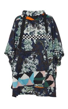 Optical Vintage Floral Print Poncho by MSGM - Moda Operandi Athleisure Wear, Mixing Prints, Msgm, Everyday Look, Color Trends, Passion For Fashion, Floral Prints, Vintage Sport, Vintage Floral