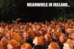 It should say Scotland since they have the largest concentration of redheads...