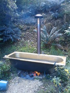fire heated bath - Google Search