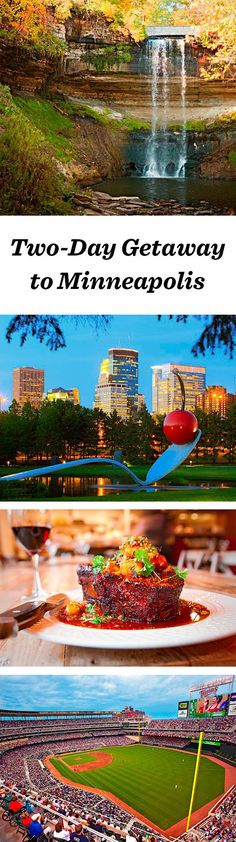 The state's largest metro hums with pro sports, pristine parks and a megamall. The bigger of the Twin Cities, Minneapolis is known for its impressive art collection and its global take on food and activities: http://www.midwestliving.com/travel/minnesota/minneapolis/two-day-getaway-to-minneapolis #minneapolis #twincities #minnesota