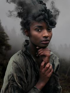 "Wildfire"" Portrait by David Uzochukwu Photo Portrait, Portrait Photography, Fashion Photography, Photography Ideas, Human Photography, Woman Portrait, Artistic Photography, Photography Aesthetic, Conceptual Photography"