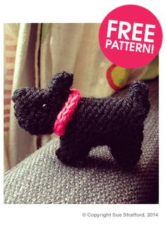 Aw look! A wee Scottie dug! Commonwealth Games Glasgow 2014! Pattern (you have to sign up for newsletters) by Sue Stratford Tiny Scottie Dog Pattern | Deramores