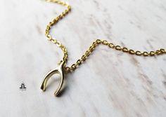 Kette+-+Wünschelrute*Wishbone*Make+a+Wish+von+Ladyville+®++auf+DaWanda.com