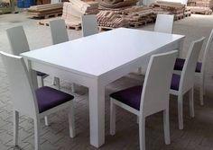 Producent mebli, stół drewniany biały prosty, NA WYMIAR