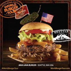 #WorldBurgerTour: il Local Burger dell'Hard Rock Cafe Seattle, il Java Lava Burger!