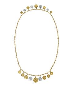 Another great find on #zulily! Two-Tone Tile Coin Convertible Necklace #zulilyfinds