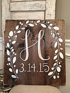 Rustic Home Decor | Initial with Wedding Date  Hey, I found this really awesome Etsy listing at www.etsy.com/…  http://www.coolhomedecordesigns.us/2017/06/14/rustic-home-decor-initial-with-wedding-date/