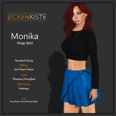 Zickenkiste – Monika Wrap Skirt Available in 6 different colors: Blueberry, Cherry, Plum, Lemon, Brown Pear and Lime For only 125L per color with 12 Sizes Works for Classic Avatar and also co…