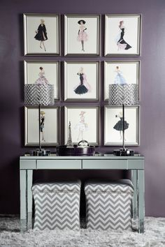 Fashion For Your Walls With Barbie Sketches And Mirrored Accessories