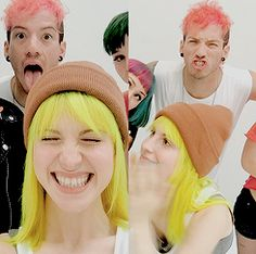 Josh Dun and Hayley Williams for Hayley's new hair dye line, GoodDyeYoung.